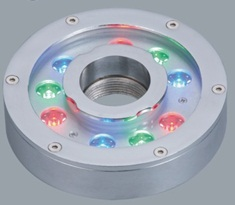 C00417-RGB-45 Serie UNDERWATER SPOT LIGHT  (RGB;  24 VDC; 12,7W; 45º; 9;  1W; Diam. 160 x 36mm; IP68)