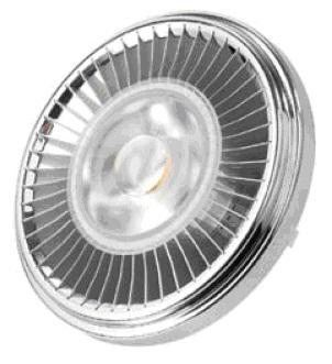 P00108-C Serie SPOT LIGHT AR111 (CW; 6000K; 12-24VDC/AC; 13W; G53; 30º; 1; Lustrous; 10W; Diam. 110 x 60,05mm; 480 lm )