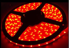 D00040 Serie FLEXIBLE STRIP (RGB;  12 VDC; 9,3W/metro; CABLE; 100º; 40/metro; SMD; 0,24W/led; 3000 x 14 x 4mm; IP65 )
