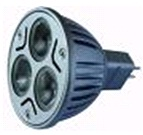 "LED ""O"" SPOT LIGHT V3 MR16 NW 5000K 24VDC 6W GU5.3 30? 3 XRE CREE 2W diam.50x52mm 190 lm 740 lux/1m"