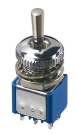 10600-Series-APEM;Professional toggleswitches - threaded bushing Ø10(.393);