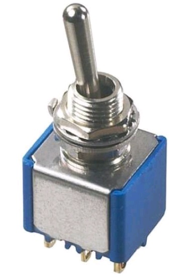 Miniature VDE approved toggle switches