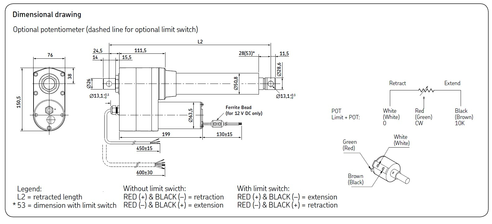 CAHB-21-Series-Linear-actuator-drawing