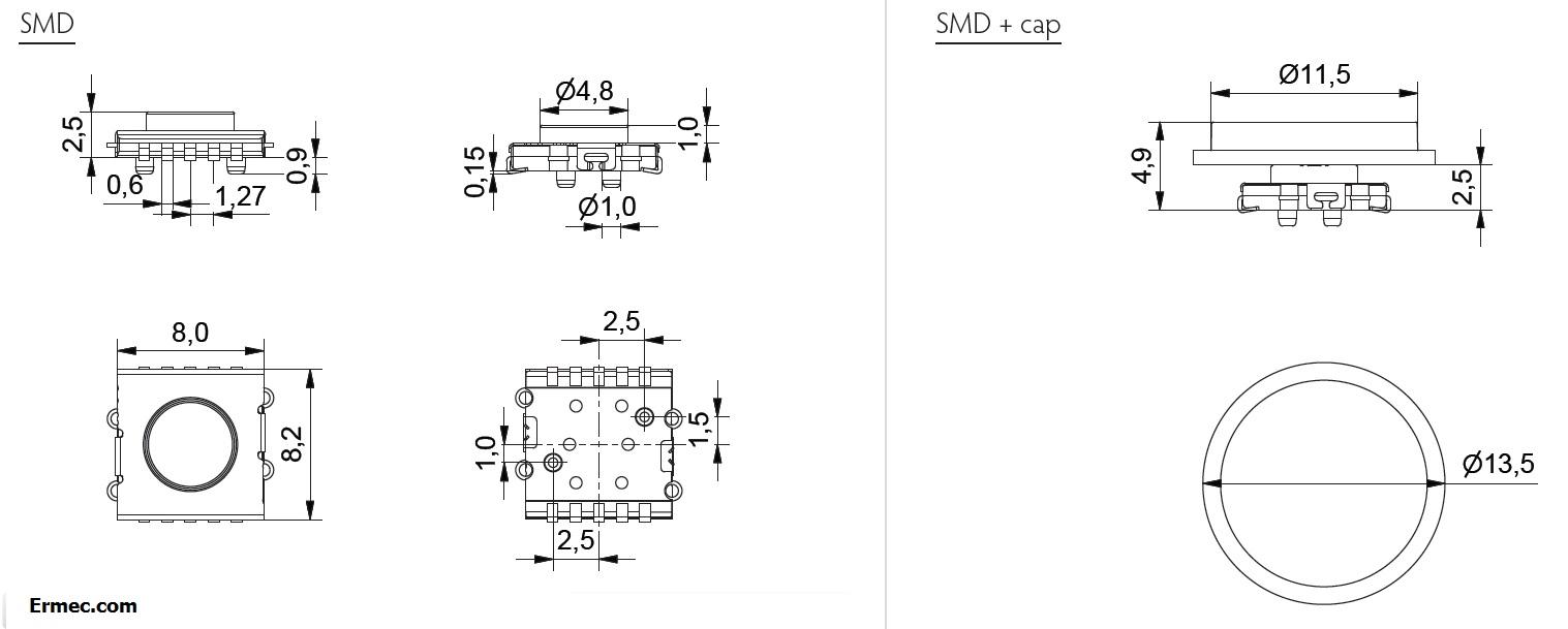 Ultramec-6C-10G-Series-Mec-Low-profile-switch-pulsdor-de-bajo-perfil-drawing
