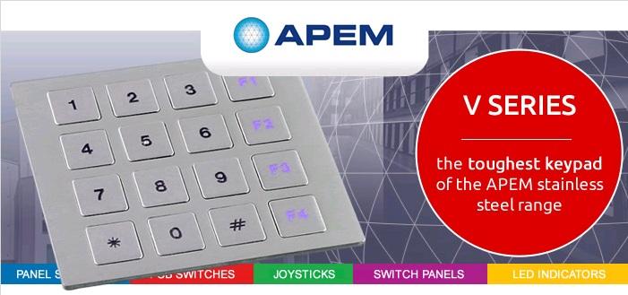 V-Series-the-toughest-keypad-of-the-apem-stainless-steel-range