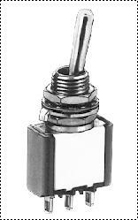 Serie 5000 (palanca, simple polo, panel, ON-OFF-MOM, con diám.6,35 (1/4) Cuello roscado, Terminal para soldar, con diám.6 (.236) Cuello roscado)