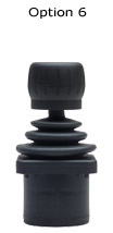 """CH products, Joysticks de efecto Hall, Operados con el dedo, Série I HFX, Modelo 1300, 3 ejes, error, Redonda """"o"""" (Montaje """"flush"""", de 0V a +5V carril a carril, """"Joyball"""")"""