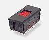 <b>Series 2000</b>( Pulsadores deslizantes, 2 pos., Panel, circuito 20,  Slider rojo tipo 8, negro, sin marcaje)