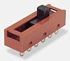 <b>Series 2000</b>( Pulsadores deslizantes, 3 pos., PCB, circuito 20, 22,3x6.3mm, Slider tipo 5, también con leyenda, 5.8Sq.)