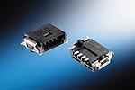 Sistema de cableado Minibridge, Acodado, Conectores macho de una fila, Tipo A (6 pins, SMT, Tapa y bobina/1000pcs)