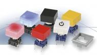 Botón multimec, para 3Fo 4F (azul, sin serigrafía, para 2K, cuadrado (14.3x14.3mm),  montaje en taladro o superficie.)