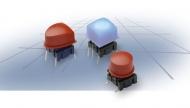 Botón multimec, para 3F (azul, sin serigrafía, sin marco, Cuadrado (10.6x10.6mm),  montaje en taladro o superficie.)