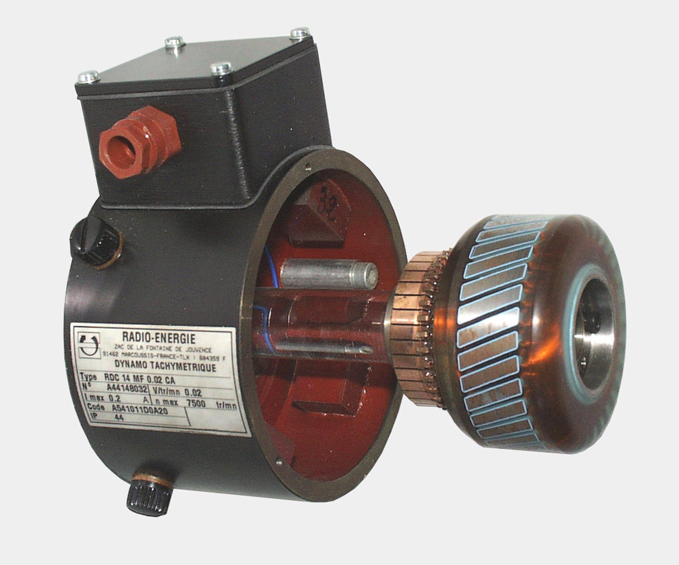 Dinamo tacométrica Eje hueco (20V, 16mm)